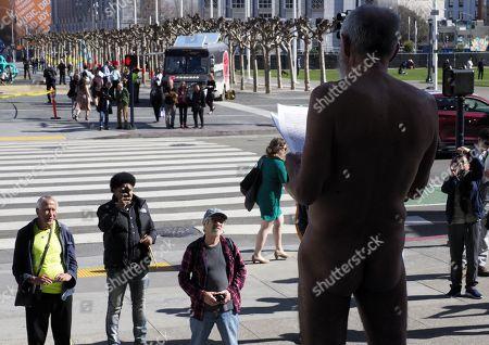Editorial photo of Nudity ban protest, San Francisco, USA - 01 Feb 2018