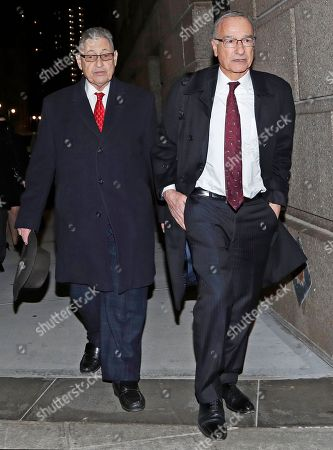 Sheldon Silver, Michael Feldberg. Former New York State Assembly Speaker Sheldon Silver, left, leaves court with his attorney Michael Feldberg, in New York. Silver attended a pretrial hearing in federal court to discuss his retrial. A federal appeals court in July, 2017 overturned Silver's 2015 corruption conviction. Silver had been convicted on charges that he had obtained nearly $4 million in illicit payments in return for taking a series of official actions that benefited others
