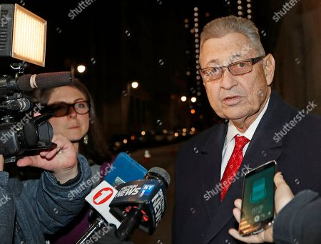 Sheldon Silver, Michael Feldberg. Former New York State Assembly Speaker Sheldon Silver, right, stops to speak to reporters, in New York after attending a pretrial hearing in to discuss his retrial. A federal appeals court in July, 2017 overturned Silver's 2015 corruption conviction. Silver had been convicted on charges that he had obtained nearly $4 million in illicit payments in return for taking a series of official actions that benefited others