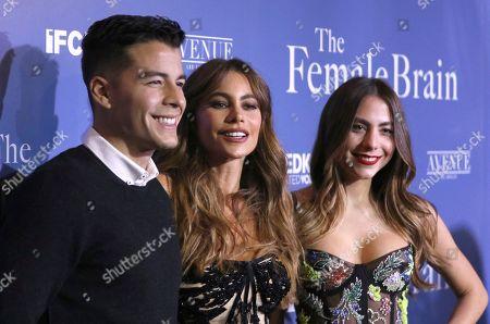 "Manolo Gonzalez-Ripoll Vergara, Sofia Vergara, Claudia Vergara. Manolo Gonzalez-Ripoll Vergara, from left, Sofia Vergara and Claudia Vergara arrive at the Los Angeles premiere of ""The Female Brain"" at ArcLight Hollywood on"
