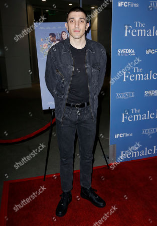 "Stock Image of Andrew Schulz arrives at the Los Angeles premiere of ""The Female Brain"" at ArcLight Hollywood on"