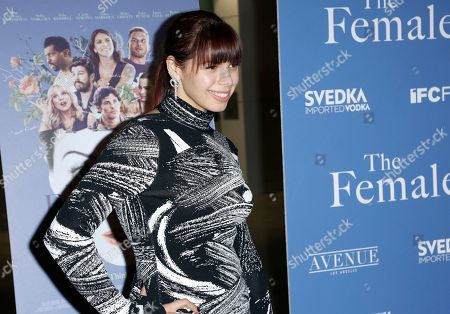 """Erika Olde arrives at the Los Angeles premiere of """"The Female Brain"""" at ArcLight Hollywood on"""