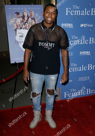 """Ty Hickson arrives at the Los Angeles premiere of """"The Female Brain"""" at ArcLight Hollywood on"""