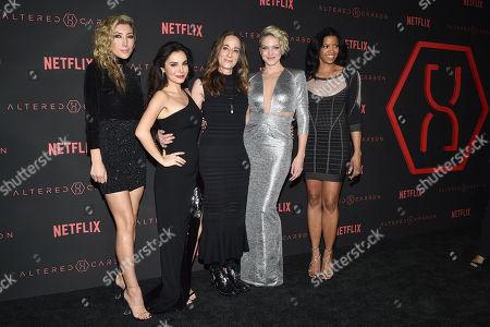 Dichen Lachman, Martha Higareda, Laeta Kalogridis, Kristin Lehman and Renee Elise Goldsberry