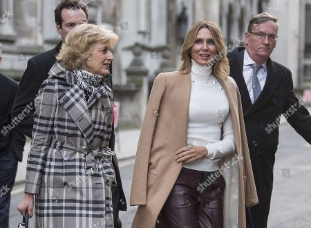 Tatyana Akhmedova leaves the High Court in London with her with her lawyer Fiona Shackleton.