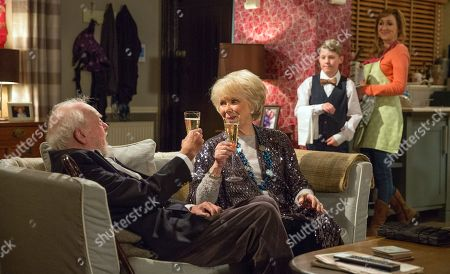 Ep 8070 Wednesday 14 February 2018  Sandy Thomas, as played by Freddie Jones, is having the time of his life sharing time with Maisie, as played by Wendy Craig.