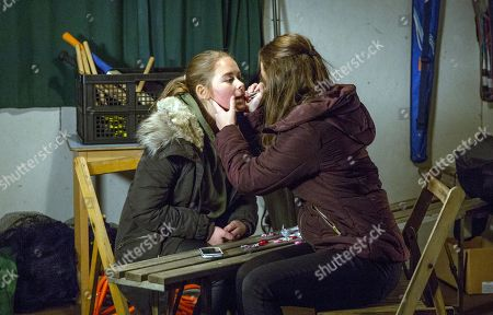 Ep 8070 Wednesday 14 February 2018  At the pavilion, Gabby Thomas, as played by Rosie Bentham, and Liv, as played by Isobel Steele, wait for Jacob as Liv tries to tell Gabby about her asexuality. Although Gabby thinks Liv might just be picky, Liv's heartened to have Gabby's support none the less. But will Liv get the wrong end of the stick?