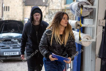 Ep 8065 Thursday 8 February 2018 - 1st Ep Debbie Dingle, as played by Charley Webb, is shocked to learn from a battered Simon, as played by Liam Ainsworth, their plan failed. Simon grabs Debbie when she refuses to give him the money.