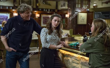 Ep 8066 Thursday 8 February 2018 - 2nd Ep Daz Spencer, as played by Mark Jordan, wants Gabby Thomas, as played by Rosie Bentham, on side and Gabby asks Daz to secretly buy her wine and says she'll pretend to like him in front of Bernice, if he does.