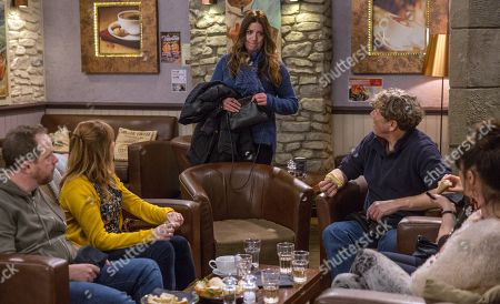 Ep 8059 Thursday 1 February 2018 - 2nd Ep Harriet Finch, as played by Katherine Dow-Blyton, is enjoying her send off, until Laurel, Kerry, Lydia, Pearl and Dan suggest she reconsider quitting. Will she change her mind? With Laurel Thomas, as played by Charlotte Bellamy ; Kerry Wyatt, as played by Laura Norton ; Lydia Hart, as played by Karen Blick ; Pearl Ladderbanks, as played by Meg Johnson; Daz Spencer, as played by Mark Jordon