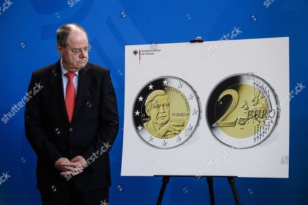 Editorial picture of Presentation of commemorative coins Berlin and Helmut Schmidt, Germany - 02 Feb 2018