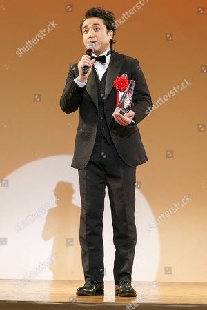 Stock Photo of Japanese actor Tsuyoshi Muro speaks