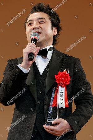 Stock Image of Japanese actor Tsuyoshi Muro speaks