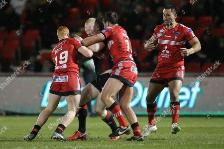 Josh Wood during the Salford Red Devils vs Wigan Warriors in the Betfred Super League at the AJ Bell Stadium, Eccles