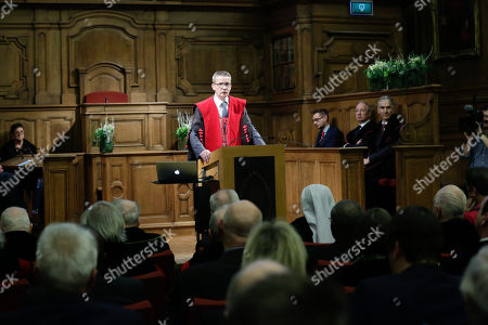 Editorial picture of Martin Wolf recieves honorary doctorate from KU Leuven University, Brussels, Belgium - 02 Feb 2018