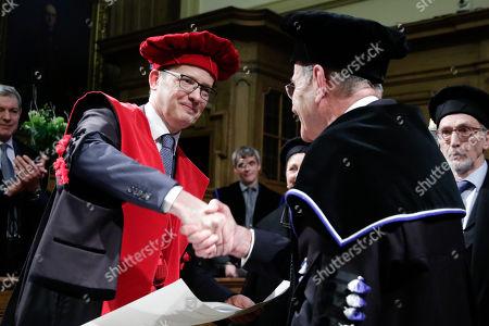 Editorial image of Martin Wolf recieves honorary doctorate from KU Leuven University, Brussels, Belgium - 02 Feb 2018