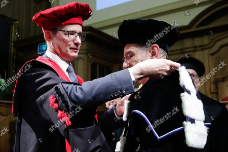 Editorial photo of Martin Wolf recieves honorary doctorate from KU Leuven University, Brussels, Belgium - 02 Feb 2018