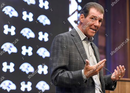 Baltimore Ravens owner Steve Bisciotti speaks during an NFL football news conference at the team's headquarters in Owings Mills, Md. Bisciotti said that Ravens general manager Ozzie Newsome will step down after the 2018 season and be replaced by assistant general manager Eric DeCosta