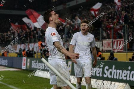 Football : Germany -1. Bundesliga  2017/18  1. FC Koeln Vs Borussia Dortmond 02/02/2018 - Simon Zoller (1. FC Koeln) celebrates scoring a goal with his team