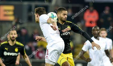 Football : Germany -1. Bundesliga  2017/18  1. FC Koeln Vs Borussia Dortmond 02/02/2018 - Simon Zoller (1. FC Koeln), Jeremy Tolan (Borussia Dortmund)