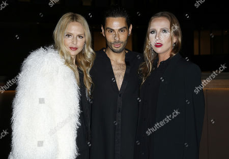 Rachel Zoe, Joey Maalouf, Allegra Versace. Rachel Zoe, from left, Joey Maalouf and Allegra Versace attend the Celebration of The Glam App's Re-launch at The Jeremy hotel, in West Hollywood, Calif