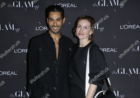 Joey Maalouf, Katherine Power. Joey Maalouf, left, and Katherine Power attend the Celebration of The Glam App's Re-launch at The Jeremy hotel, in West Hollywood, Calif