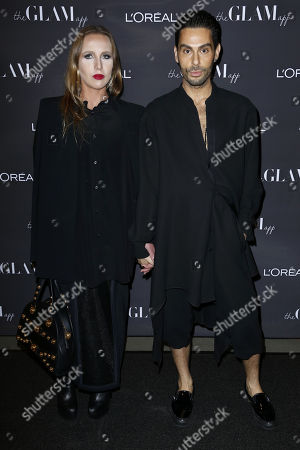 Joey Maalouf, Allegra Versace. CEO at The Glam App Joey Maalouf, right, and Allegra Versace attend the Celebration of The Glam App's Re-launch at The Jeremy hotel, in West Hollywood, Calif