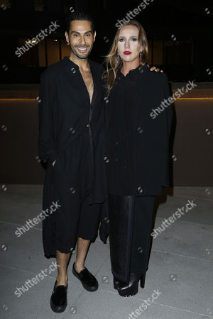 Joey Maalouf, Allegra Versace. Joey Maalouf, left, and Allegra Versace attend the Celebration of The Glam App's Re-launch at The Jeremy hotel, in West Hollywood, Calif