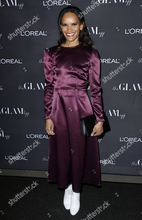 Amanda Luttrell Garrigus attends the Celebration of The Glam App's Re-launch at The Jeremy hotel, in West Hollywood, Calif
