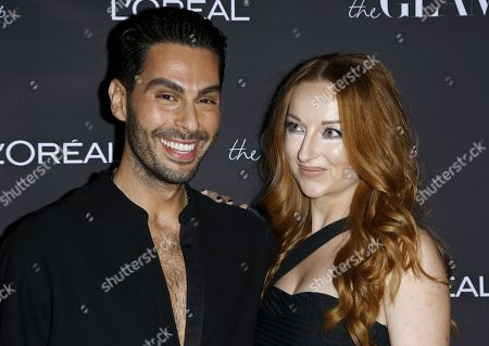 Katrina Barton, Joey Maalouf. CEOs at The Glam App Katrina Barton, right, and Joey Maalouf attend the Celebration of The Glam App's Re-launch at The Jeremy hotel, in West Hollywood, Calif