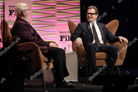Leonard Maltin and Gary Oldman