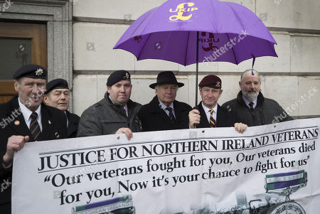 e692cf20c72 UKIP Leader Henry Bolton (2R) wearing the beret of The Royal Hussars