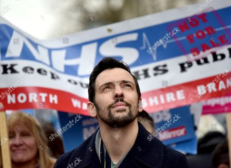 Ralf Little. NHS in Crisis - Fix it Now, protest march for the NHS in central London.