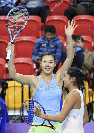 Editorial photo of WTA Taiwan Open tennis tournament, Taipei - 03 Feb 2018