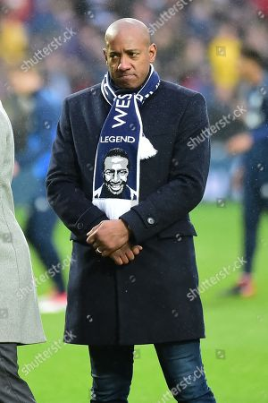 Dion Dublin pays tribute to Cyrille Regis during the Premier League match between West Bromwich Albion and Southampton at The Hawthorns, West Bromwich. Picture by Dennis Goodwin