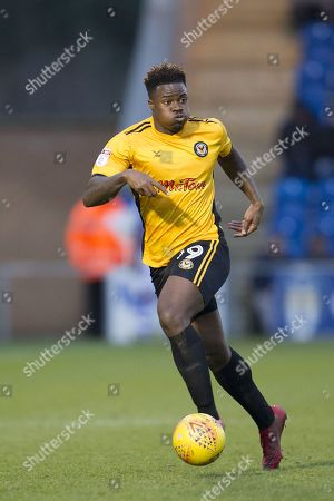 Tyler Reid of Newport County in action during Colchester United vs Newport County, Sky Bet EFL League 2 Football at the Weston Homes Community Stadium on 3rd February 2018