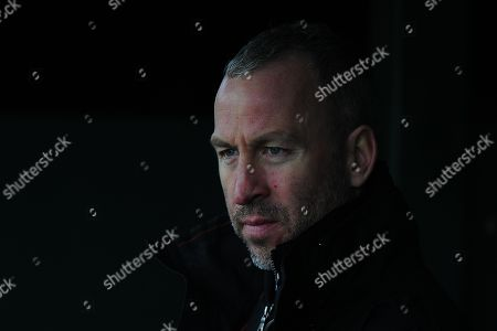Shaun Derry, Manager of Cambridge United during the Sky Bet League 2 Match between Yeovil Town and Cambridge United at Huish Park, Yeovil, Somerset, on February 3 2018