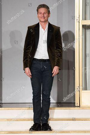 Editorial picture of Jesper Hovring show, Runway, Fall Winter 2018, Copenhagen Fashion Week, Denmark - 01 Feb 2018