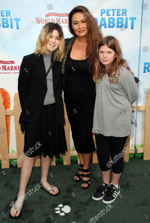 Stock Picture of Tia Carrere, daughter Bianca Wakelin (L) and guest