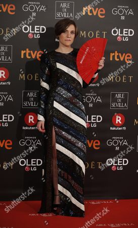 Spanish director Carla Simon poses as she arrives at the 32nd Goya Awards, celebrated at the Marriott Auditorium Hotel, in Madrid, Spain, 03 February 2018.