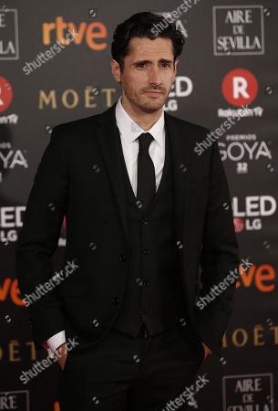 Argentinan actor Juan Diego Botto poses as he arrives at the 32nd Goya Awards, celebrated at the Marriott Auditorium Hotel, in Madrid, Spain, 03 February 2018.