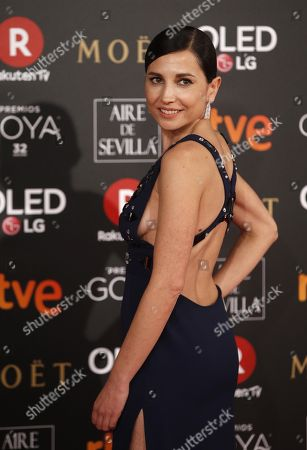 Spanish actress Marian Alvarez poses as she arrives at the 32nd Goya Awards, celebrated at the Marriott Auditorium Hotel, in Madrid, Spain, 03 February 2018.