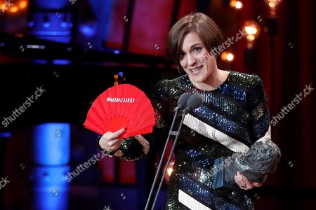 Producer Carla Simon wins the Best New Director for 'Verano 1993' during the 32nd Goya Awards, celebrated at the Marriott Auditorium Hotel, in Madrid, Spain, 03 February 2018.