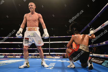 Paul Butler (white shorts) defeats Jefferson Vargas during a Boxing Show at The O2 on 3rd February 2018