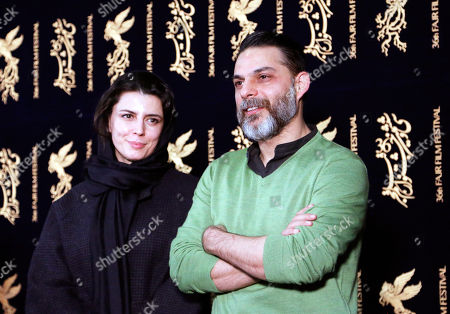 Stock Photo of Leila Hatami and Peyman Moaadi