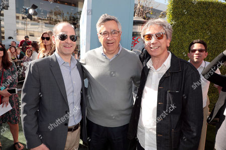 Stock Picture of Doug Belgrad, Executive Producer, Tony Vinciquerra, Chairman and CEO, Sony Pictures Entertainment, and Zareh Nalbandian, Producer,
