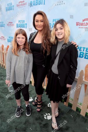 Tia Carrere, daughter Bianca Wakelin (L) and guest