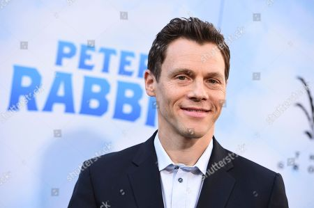 "Will Gluck arrives at the world premiere of ""Peter Rabbit"" at The Grove on in Los Angeles"