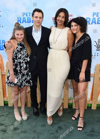 """Will Gluck arrives with his family at the world premiere of """"Peter Rabbit"""" at The Grove on in Los Angeles"""