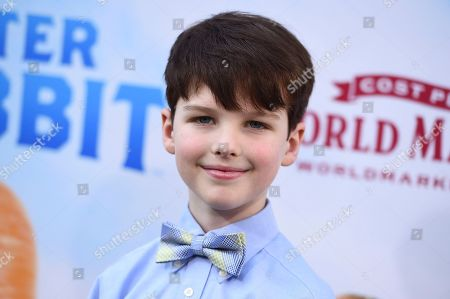 """Iain Armitage arrives with his family at the world premiere of """"Peter Rabbit"""" at The Grove on in Los Angeles"""